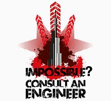 Impossible? Consult the Pros by TeeSnaps Unisex T-Shirt