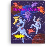 Space Cows Front Cover Canvas Print