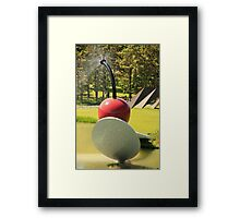 Cherry and Spoon Framed Print