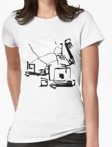 Abstract. Pseudo ethnic doodle. Womens Fitted T-Shirt