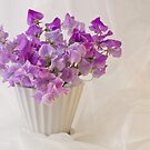 Lavender Sweet Peas And Chiffon by Sandra Foster