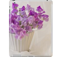 Lavender Sweet Peas And Chiffon iPad Case/Skin