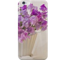 Lavender Sweet Peas And Chiffon iPhone Case/Skin