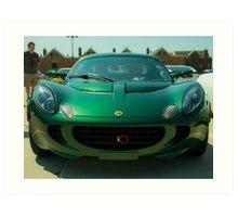 Green Lotus Elise Grinning  Art Print