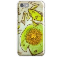 Frog in the Water Garden- Zen Garden series 1/3 iPhone Case/Skin
