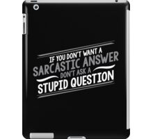 answer 2 iPad Case/Skin