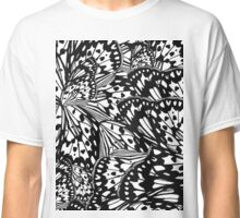 abstract butterfly wings black & white Classic T-Shirt