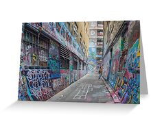 Hosier Lane abstract 3 Greeting Card