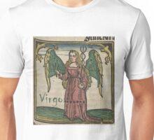 Virgo 16th Century Woodcut Unisex T-Shirt