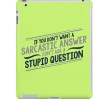 answer iPad Case/Skin