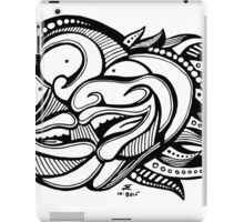 Three Black & White Faces with Cool Psychedelic Hair iPad Case/Skin