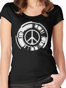 MGS - Peace walker - White Women's Fitted Scoop T-Shirt