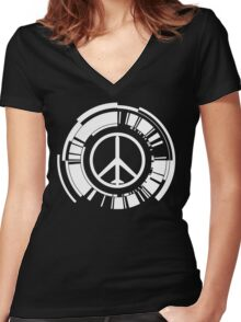 MGS - Peace walker - White Women's Fitted V-Neck T-Shirt