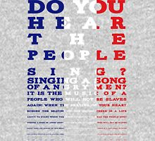 Do you hear the people sing? Les Mis design Tank Top
