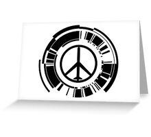 MGS - Peace walker - Black Greeting Card