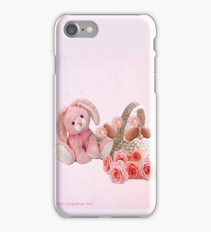 A pink Easter Card iPhone Case/Skin