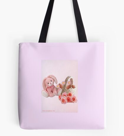 A pink Easter Card Tote Bag