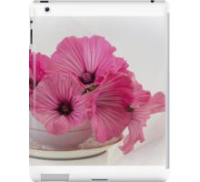 A Cup Of Pink Lavatera Flowers iPad Case/Skin