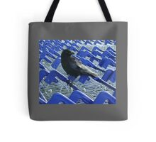 firm purchase (crow with shopping trolleys) Tote Bag