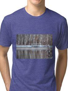 White trees reflected Tri-blend T-Shirt