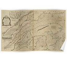 American Revolutionary War Era Maps 1750-1786 313 An exact chart of the river St Lawrence from Fort Frontenac to the island of Anticosti shewing the soundings Poster