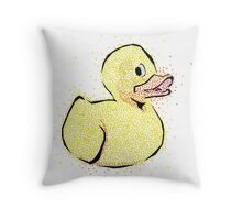 Toy Duck Dots Throw Pillow