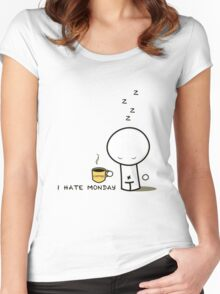 i hate monday Women's Fitted Scoop T-Shirt