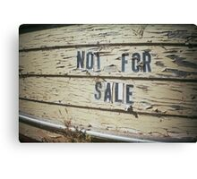 not for sale Canvas Print