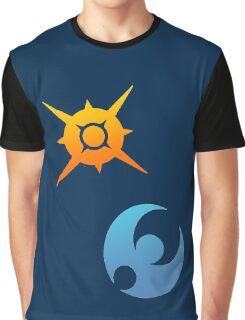 Pokemon Sun and Moon Symbols Graphic T-Shirt