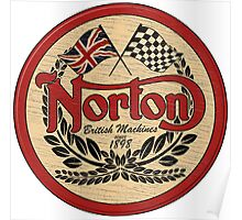 Norton - distressed sign Poster