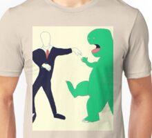 Slenderman vs. Dinosaur Unisex T-Shirt