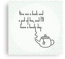 Pot of Tea Canvas Print