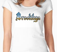 Brooklyn chrome style Women's Fitted Scoop T-Shirt