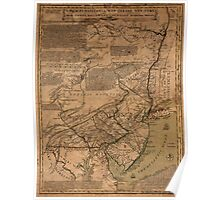 American Revolutionary War Era Maps 1750-1786 070 A map of Pensilvania New Jersey New York and the three Delaware counties 3 Poster