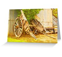 Old Cart.... Greeting Card