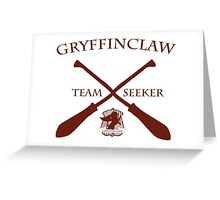 Gryffinclaw Team Seeker in Red Greeting Card