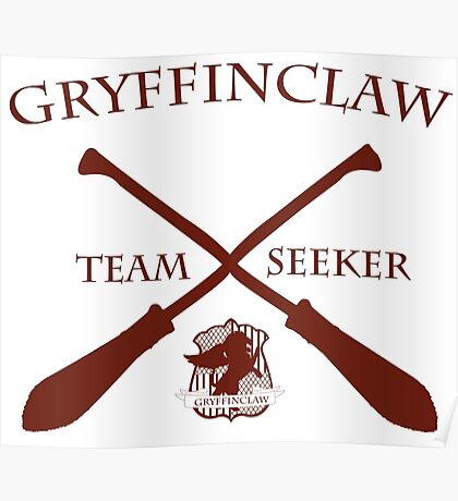 Gryffinclaw Team Seeker in Red Poster