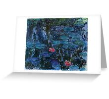 Nymphéas reflets de saule 1916-19 Monet Fine Art Greeting Card