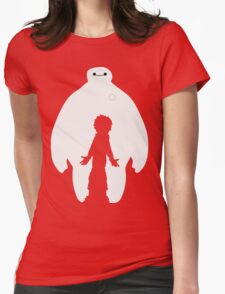 Baymax and Hiro Womens Fitted T-Shirt