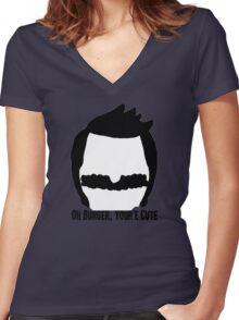 Bob Belcher- Bobs Burgers Women's Fitted V-Neck T-Shirt