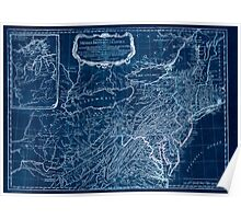 American Revolutionary War Era Maps 1750-1786 033 A general map of the middle British colonies in America 02 Inverted Poster