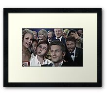 ND selfie Framed Print