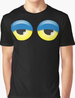 Dopey looking Blue lidded eyes Graphic T-Shirt