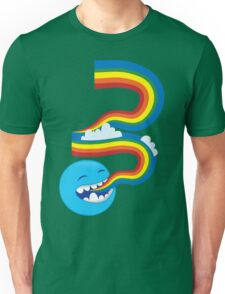 I SPEAK rainbows! cute kawaii character sending out a rainbow Unisex T-Shirt
