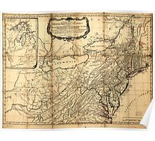 American Revolutionary War Era Maps 1750-1786 032 A general map of the middle British colonies in America 03 Poster