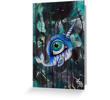 narwhal in deep sea Greeting Card