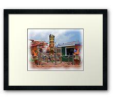 Tiki Tiki Alive  Framed Print
