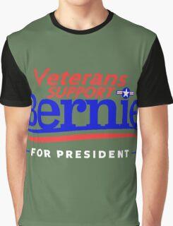 Veterans Support Bernie For President Graphic T-Shirt
