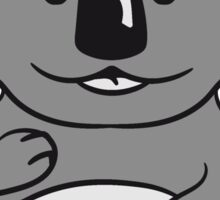 sweet cute little koala bear sitting fat Sticker