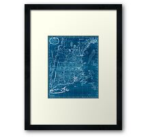 American Revolutionary War Era Maps 1750-1786 101 A map of the most inhabited part of New England containing the provinces of Massachusets Bay and New Inverted Framed Print